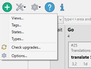 XPlan configuration menu
