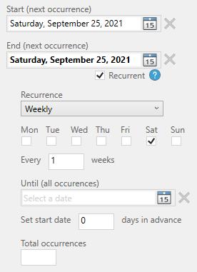 recurrent tasks